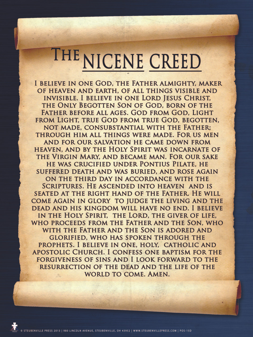 Nicene Creed Poster Catholic To The Max Online