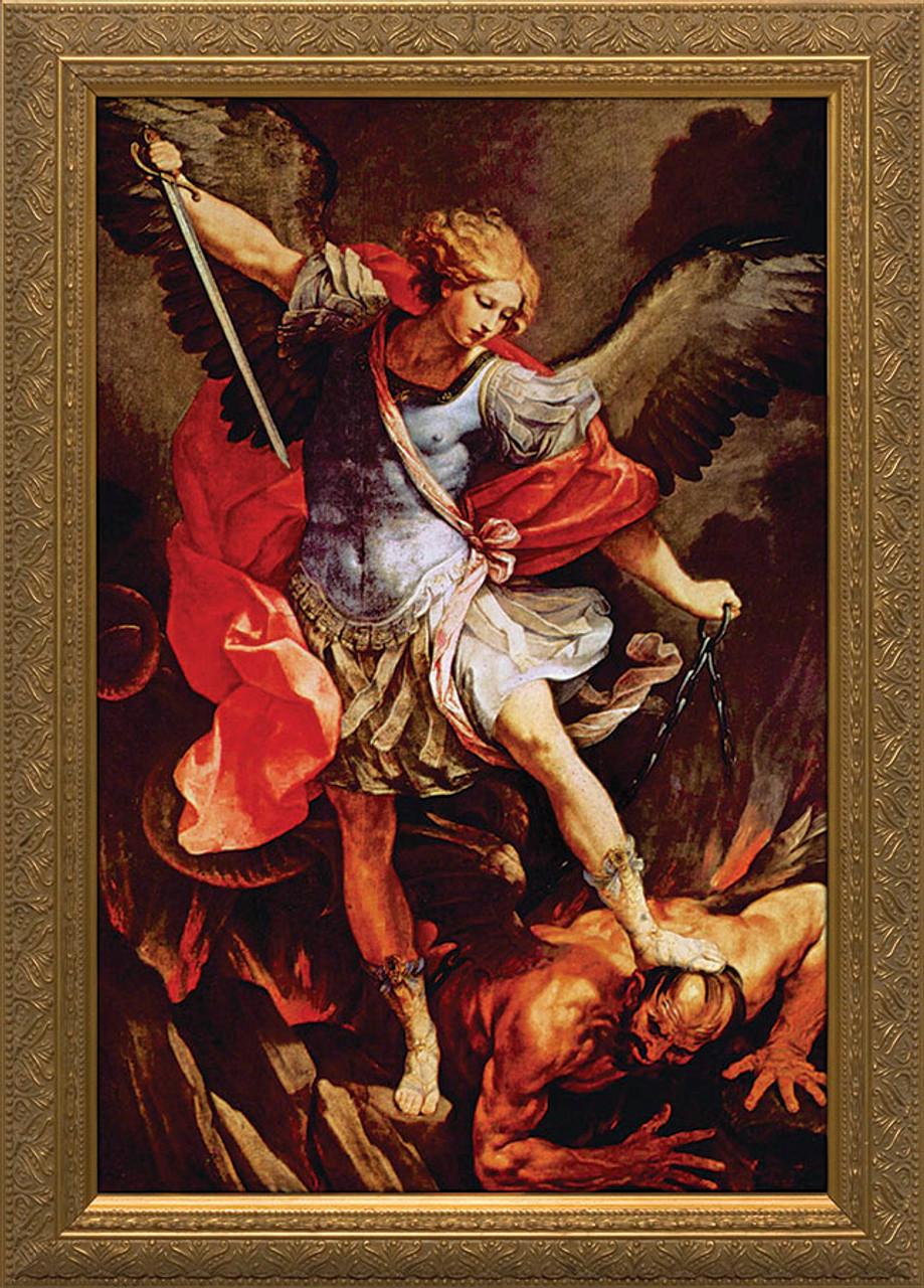 St. Michael the Archangel - Gold Framed Art - Catholic to ...