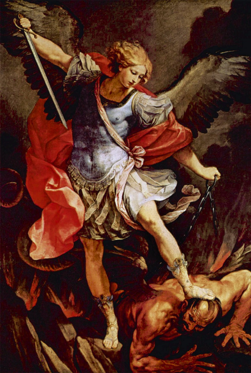 St Michael the Archangel print in assorted frames