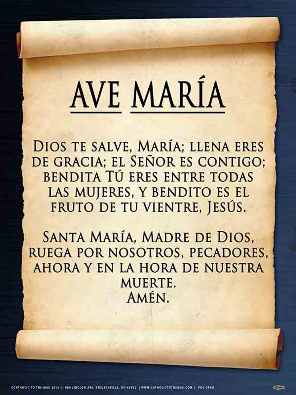 Spanish Hail Mary Poster Catholic To The Max Online