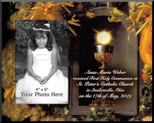 Eucharist & Chalice Personalized Photo Plaque