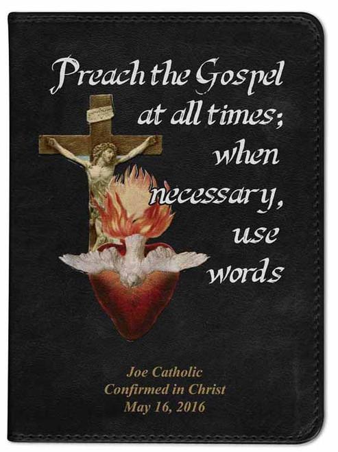 Personalized Catholic Missionary Bible - Black NABRE