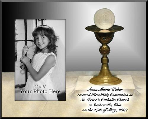 Communion Chalice Personalized Photo Plaque
