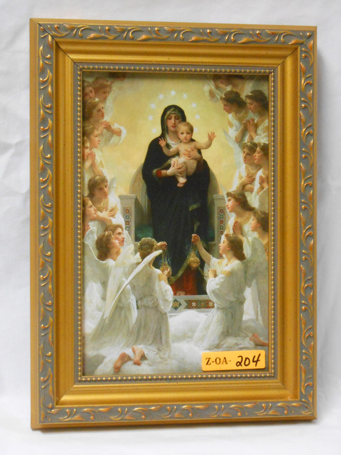Queen of the Angels 5x8 Gold & Silver Framed Print
