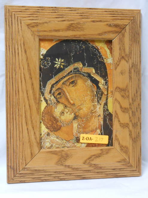 Our Lady of Vladimir 5x7 Light Wood Framed Print
