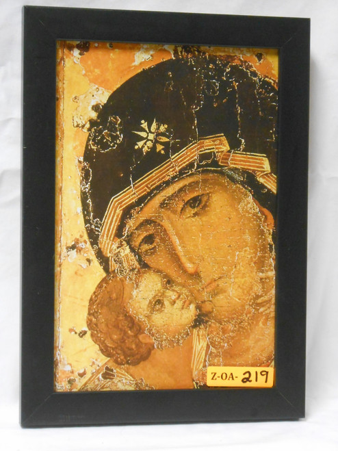 Our Lady of Vladimir 6x9 Black Framed Print