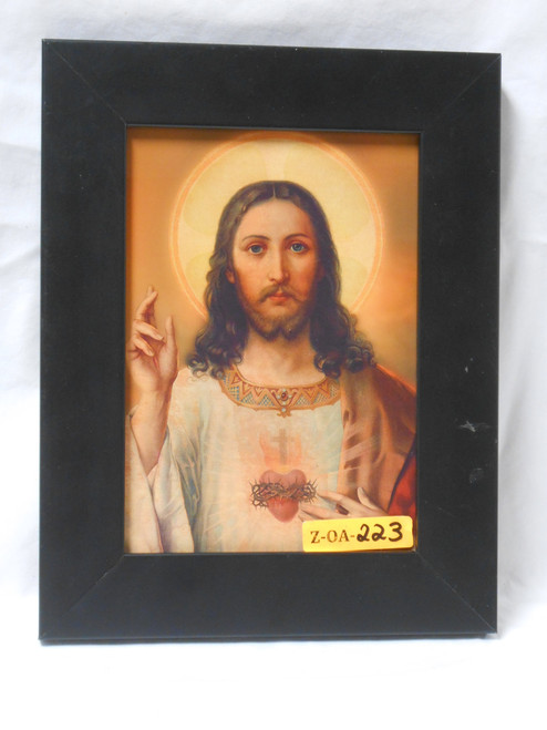 Sacred Heart of Jesus 5x7 Black Framed Print