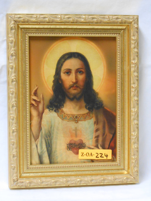 Sacred Heart of Jesus 5x7 Bright Gold Framed Print