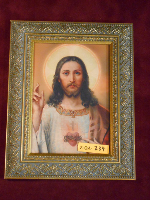Sacred Heart of Jesus 5x7 Ornate Gold Framed Print