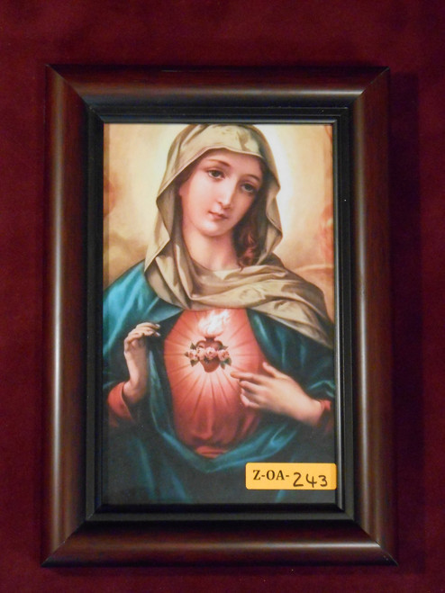 Immaculate Heart of Mary 5x8 Framed Print