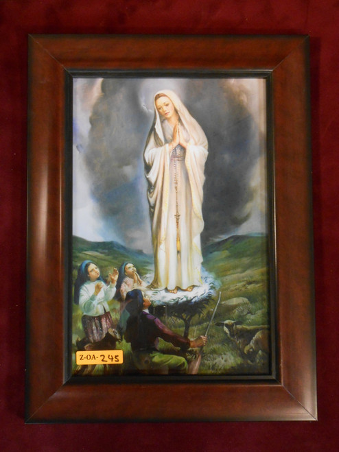 Our Lady of Fatima and Children 7x11 Framed Print