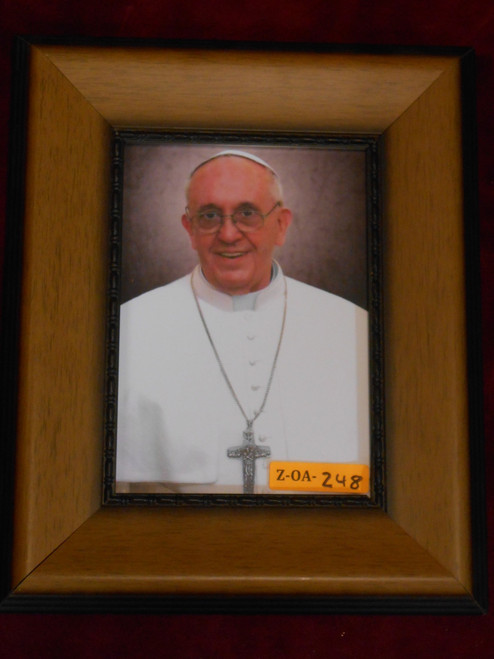 CLEARANCE Pope Francis 5x7 Caramel Framed Print