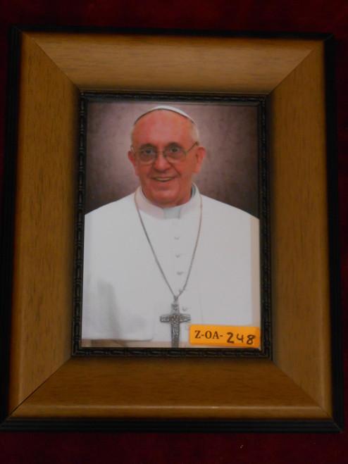Pope Francis 5x7 Caramel Framed Print