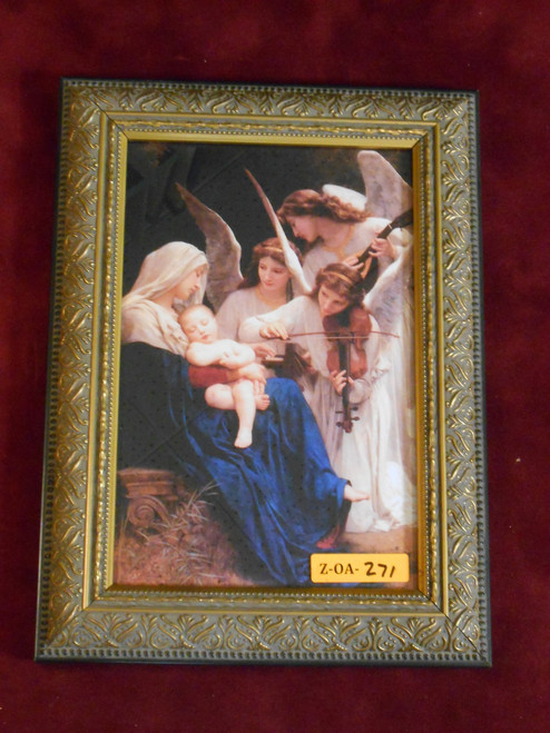 Song of the Angels 6x9 Gold Framed Print