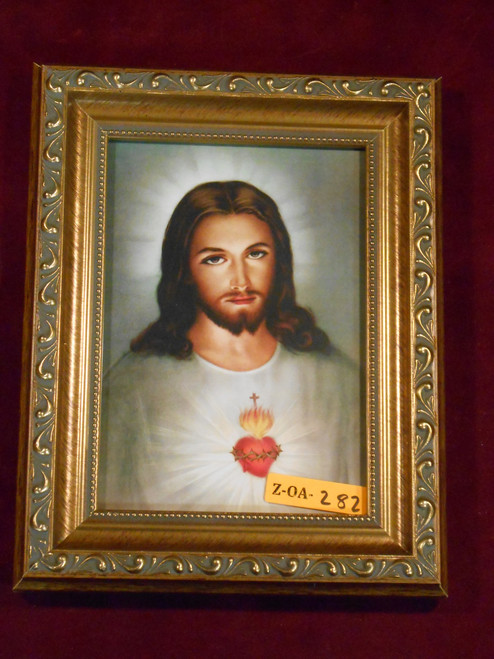 CLEARANCE Sacred Heart of Jesus 5x7 Gold-Framed Print