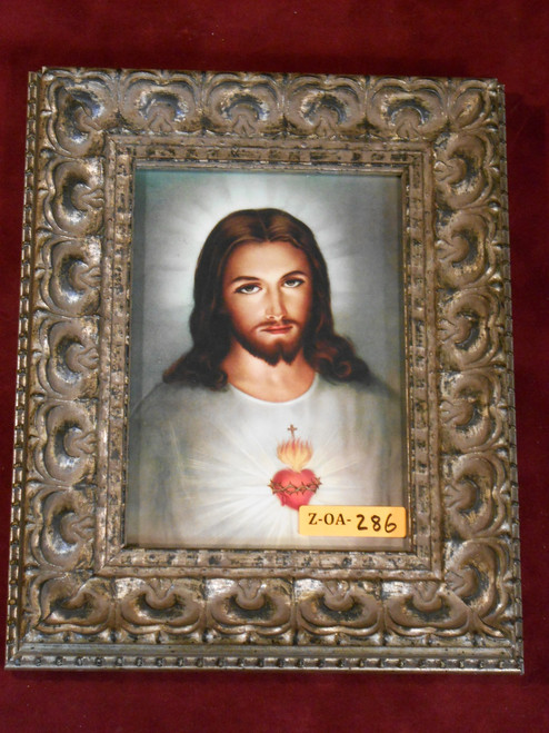 Sacred Heart of Jesus 5x7 Silver Framed Print