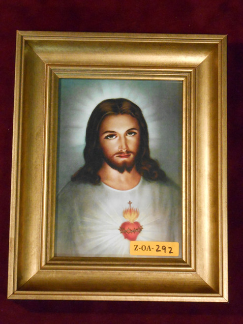 Traditional Sacred Heart of Jesus 5x7 Gold Framed Print
