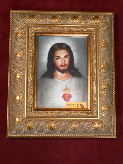 Traditional Sacred Heart of Jesus 5x7 Ornate-Gold Framed Print
