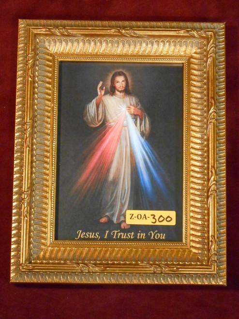 Divine Mercy 5x7 Gold Framed Print
