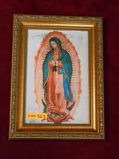 Our Lady of Guadalupe 6x9 Ornate Gold Framed Print