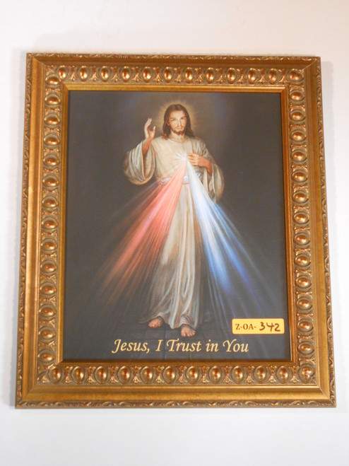 Divine Mercy 8x10 Framed Canvas