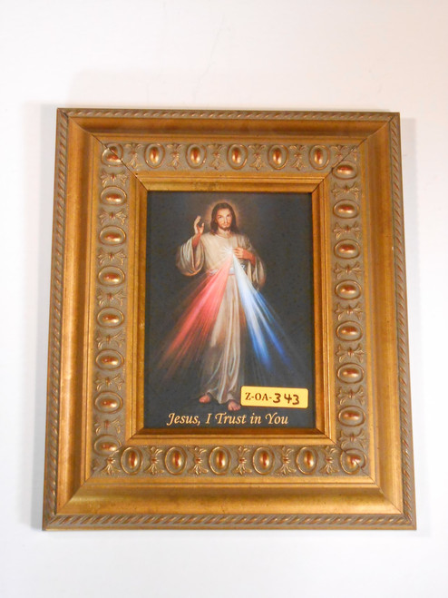 Divine Mercy 5x7 Ornate-Gold Framed Print