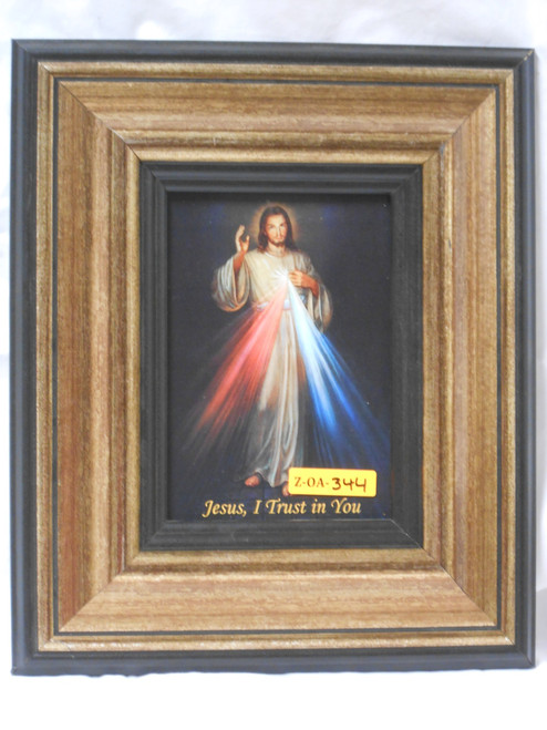 Divine Mercy 5x7 Black-Rim Framed Print