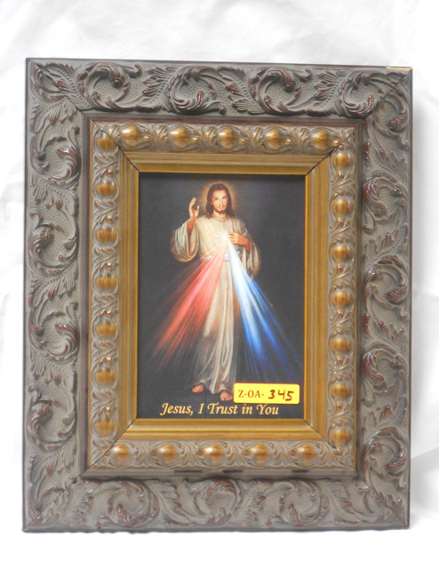 Divine Mercy 5x7 Dark Ornate Framed Print