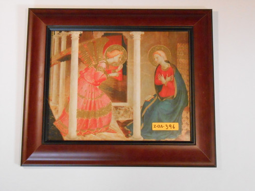 Annunciation 8x10 Brown Framed Print