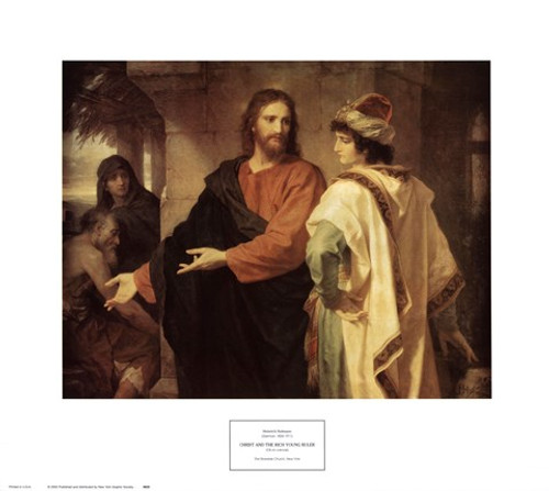 Christ and the Rich Young Ruler: Fine Art Print
