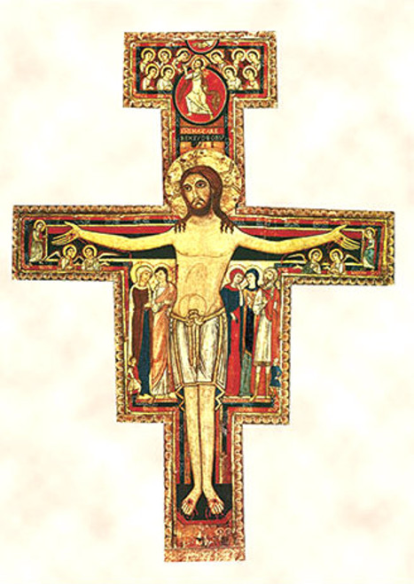 San Damiano Cross (GOLD): Fine Art Print