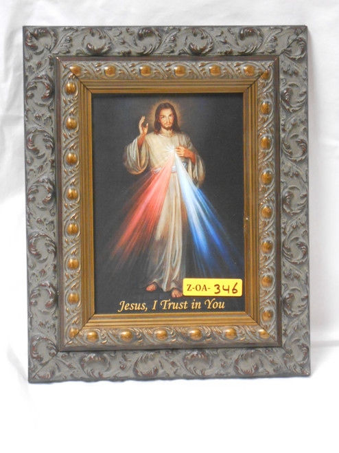 Divine Mercy 5x7 Dark-Ornate Framed Print