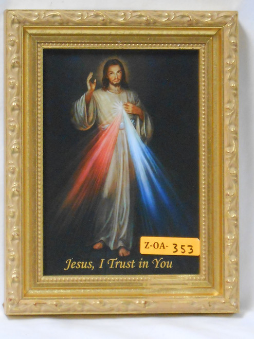 Divine Mercy 5x7 Lavished Gold Framed Print