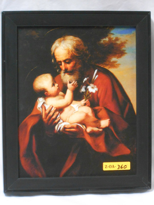 St. Joseph (older)  8x10 Dark Framed Print