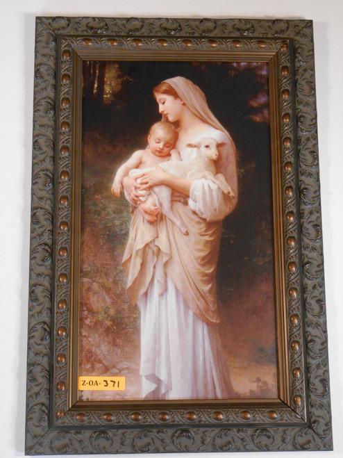 L'Innocence 8x14 Dark Ornate Framed Print