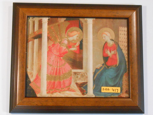 Annunciation 8x10 Simple Brown Framed Print