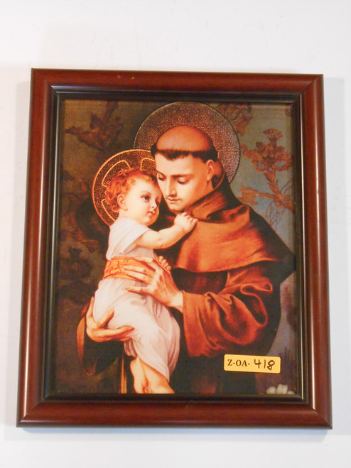 St. Anthony of Padua 8x10 Simple Brown Framed Print