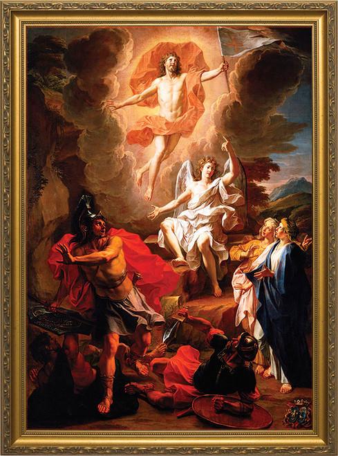 Resurrection of Christ by Coypel - Gold Framed Art