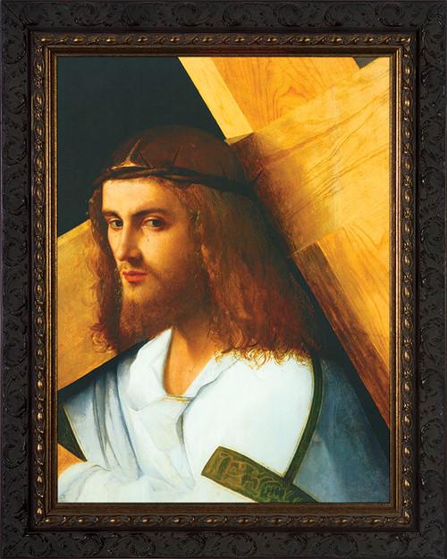 Christ Carrying the Cross by Bellini - Framed Art