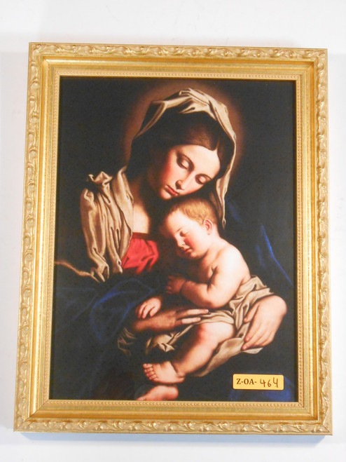Madonna and Child 9x12 Gold Framed Print