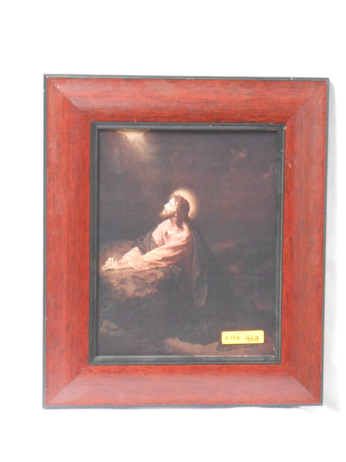 Agony in the Garden 8x10 Burnt Brown Framed Print