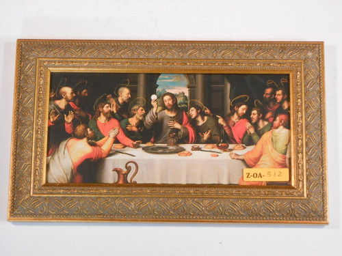 Last Supper 5x10 Golden Framed Print