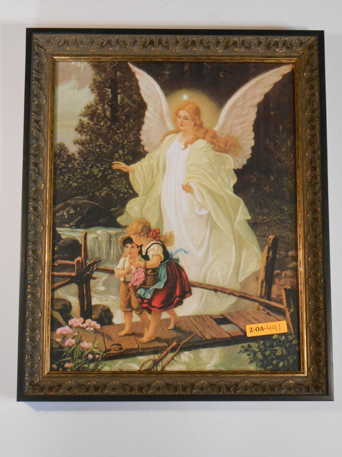 Angel on the Perilous Bridge 11x14 Ornate Framed Print