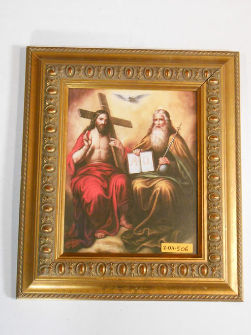 Holy Trinity 8x10 Gold Framed Print
