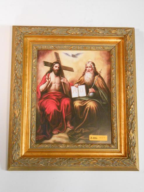 Holy Trinity 8x10 Gold-Leafed Framed Print
