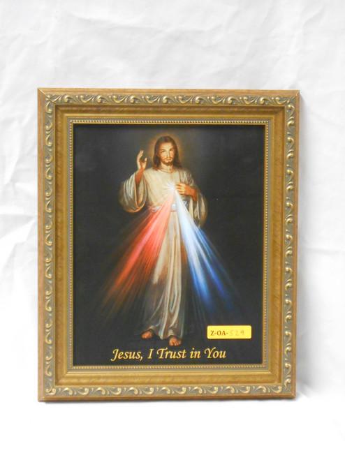 Divine Mercy 8x10 Simple-Golden Framed Print