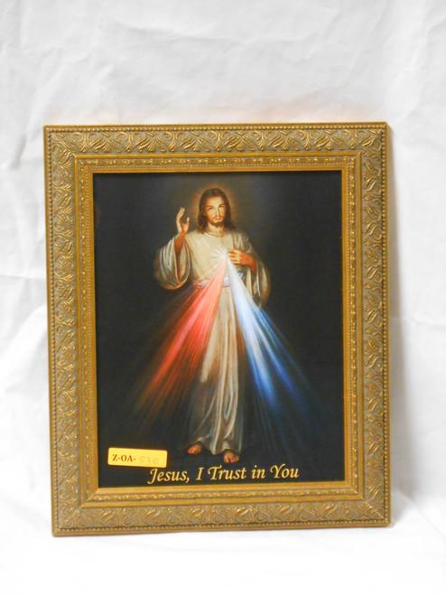 Divine Mercy 8x10 Simple Golden Framed Print