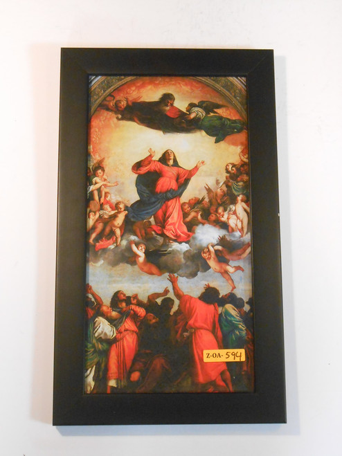 Assumption of the Virgin by Titian 7x14 Framed Print