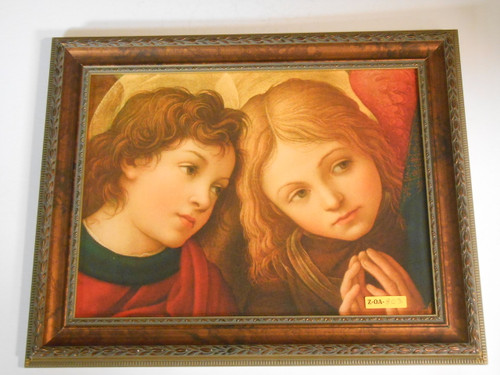 Two Angels by Lippi 11x15 Framed Print