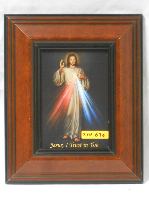 Divine Mercy 5x7 Wide Wooden-Framed Print